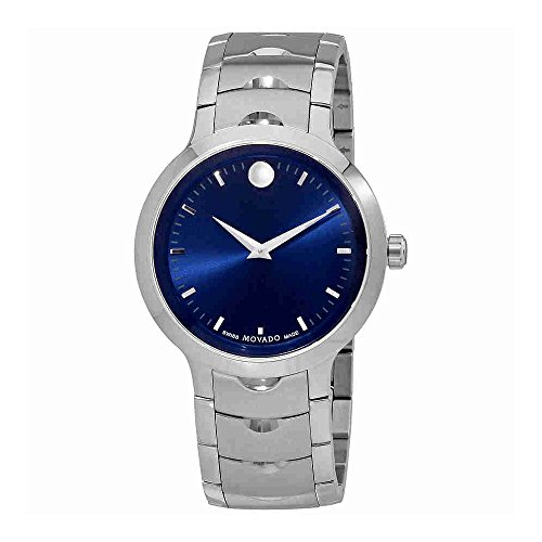 Movado Men's Swiss Quartz Stainless Steel Watch, Color: Silver-Toned (Model: 0607042)