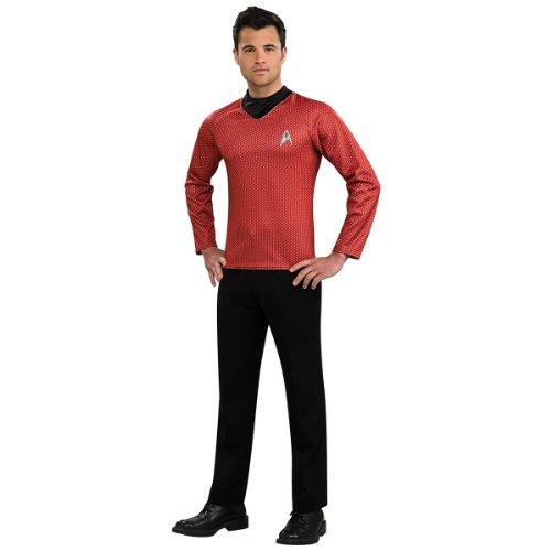 Track Star Halloween Costume (Star Trek Movie Red Shirt, Adult Medium Costume)