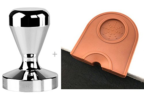 Espresso Coffee Tamper Stainless Steel 51mm + Coffee Tamper Mat by Unknown