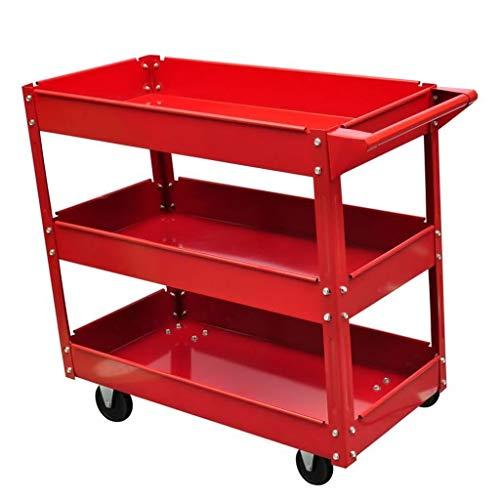 Bonebit Rolling 3 Tray Utility Cart Dolly 220lbs Storage Shelves Workshop Garage Tool by Bonebit