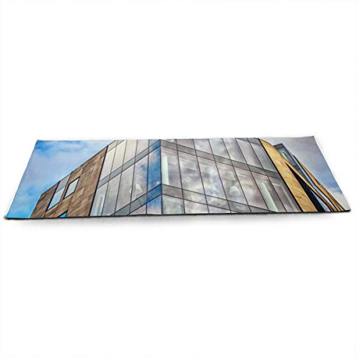 (Godels Architectural-design-architecture-blue-534119 Luxury Non-Slip Soft Advanced Printed Environmental Yoga Mat.)
