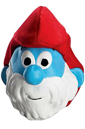 Rubie's Men's Adult Masks, Papa Smurf, Smurfs: the Lost (Papa Smurf Costumes)