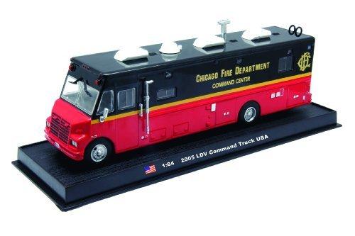 Command Truck - LDV Command Fire Truck Diecast 1:64 Model (Amercom GB-13)