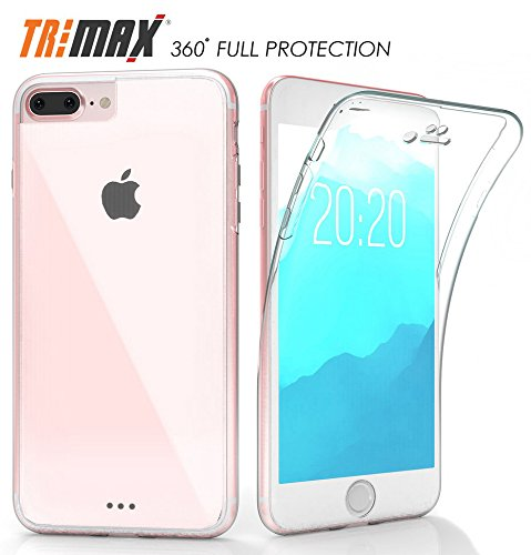 promo code b8a78 6dc83 iPHONE 7 PLUS CLEAR CASE, NEW BEYOND CELL CLEAR FULL-BODY PROTECTION  TRI-MAX TRANSPARENT CASE BUILT-IN SCREEN GUARD TPU WRAP SLIM COVER FOR  APPLE ...