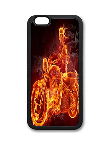 Fantastic Faye PC Material Skull Cute Hot Selling Top Quality Special Design Fire Flowers Motobike Guitar Cell Phone Cases For iPhone 6 No.16