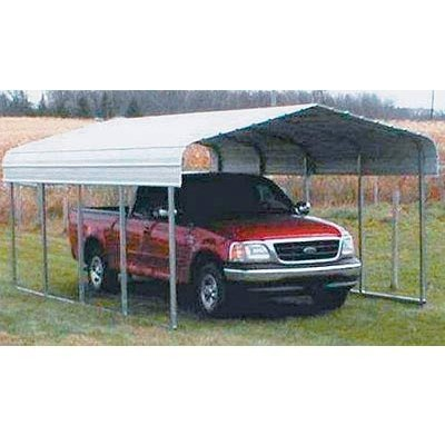 versatube one-vehicleスチールShelter – 20 ft。L x 14 ft。w x 7 ft。H B0026SXC40