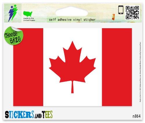 Canada Canadian Flag Vinyl Car Bumper Window Sticker - Canada Vinyl Sticker
