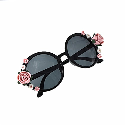 moda de de hechas mujeres Gafas sol Unisex verano flor de de demostración Retro Gafas mano Estilo las estilo la de sol barroca de Elegante del Pa Gafas la de playa polarizadas para la a Gafas sol de YSznwU