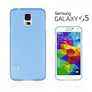OnlineBestDigital - Ultra-Slim Colorful Transparent Case for Samsung Galaxy S5 - Blue with 3 Screen Protectors and Stylus