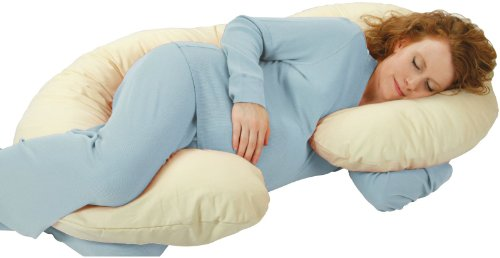 Price comparison product image Leachco OrganicSmart Snoogle Deluxe Total Body Pillow - Ivory