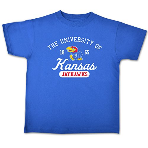 NCAA Kansas Jayhawks Youth Short Sleeve Tee, Size 8-10 /Small, Royal