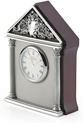 Royal Selangor Hand Finished Celebration Collection Pewter Corinthian Table Clock Gift