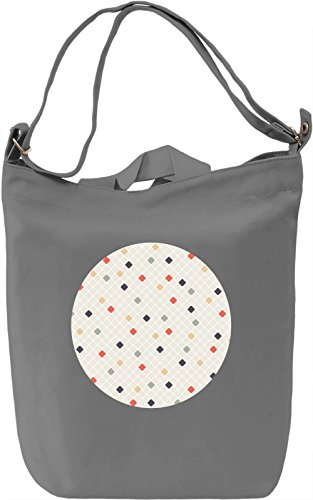 Dots Borsa Giornaliera Canvas Canvas Day Bag| 100% Premium Cotton Canvas| DTG Printing|