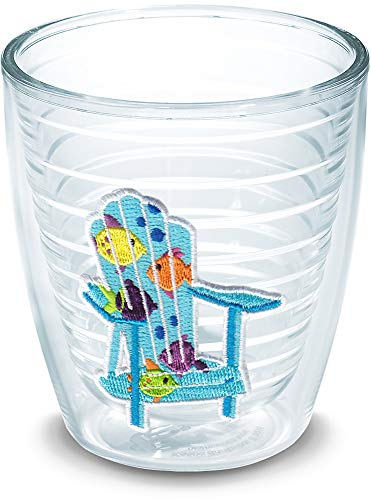Tumbler Adirondack Chair - Tervis 1137807 Tropical Fish Adirondack Chair Tumbler with Emblem 12oz, Clear
