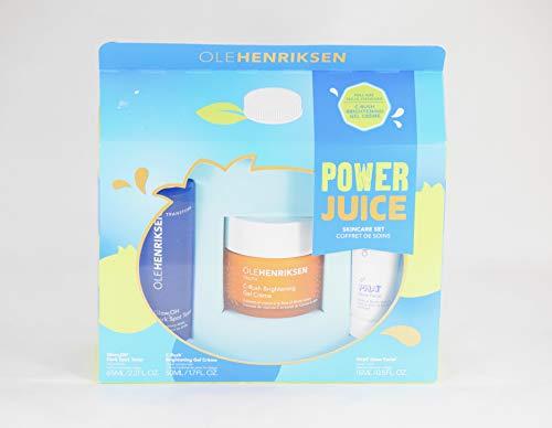 Ole Henriksen Power Juice Skincare Set - C-rush Brightening Gel Creme, Phat Glow Facial, Dark Spot Toner
