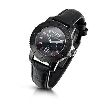 Alessandro Baldieri Damen-Armbanduhr Seamonster Lady Nerfux Analog Leder schwarz AB0031-NER