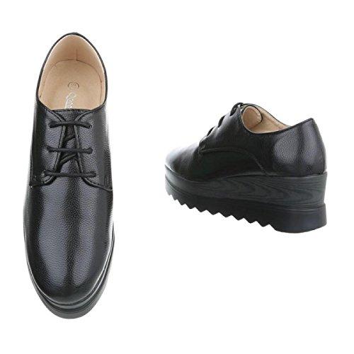 Material Cingant Zapatos Sintético de Cordones Mujer con Woman BXBq4