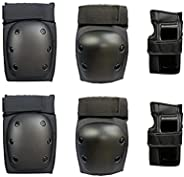 Kids Adult Knee Pads Elbow Pads Wrist Guards Protector 6 in 1 Protective Gear Set for Scooter, Skateboard, Bic