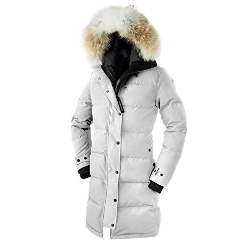 Women's Canada Shelburne Winter Fusion Fit Duck Down White Parka-(S)