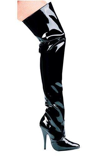 - Ellie Shoes Women's 5 Inch Heel Thigh High Boots (Black;13)