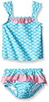 i play. Girls'  Tankini Set with Built-In Reusable Absorbent Swim Diaper