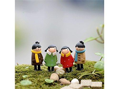Rosetreee Ornamento de Bonsai Depressed Girls Miniature Fairy Garden Moss Micro Paisaje Bonsai Decor Craft Decoraci/ón del Paisaje Verde Claro