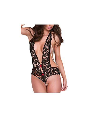 MISYAA, Erotic Underwear for Women,Lace Underwear Plus Size Temptation Underwear, Romantic Gifts(BK,Large) Black