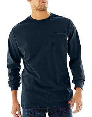FR DFL511NV Men's Long Sleeve T Shirt, 2X NAVY