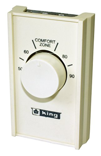 King Electric S22A Heat Anticipated 22 Amp Single Pole Line Voltage Thermostat ()