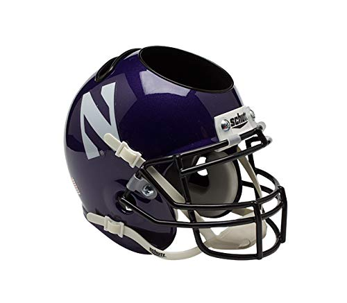 NCAA Northwestern Wildcats Helmet Desk - Northwestern Helmet Mini Authentic Wildcats