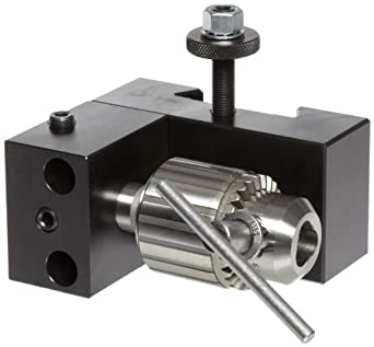 """Dorian Tool D35 Chromium Molybdenum Alloy Steel Quick Change Dovetail Drill Chuck Toolholder for SDN35CXA Super Quick Change Tool Post, 0"""" - 1/2"""" Tool Capacity, 3-23/32"""" Height"""