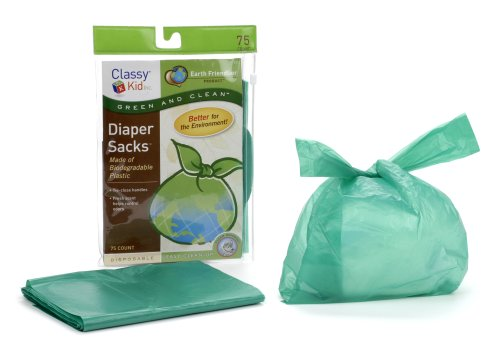 Classy Kid Keep Me Tidy Biodegradable Diaper Sack - Pack of 75 (Discontinued by Manufacturer)