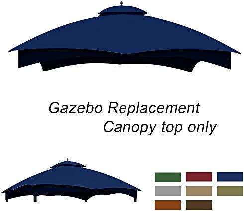 ABCCANOPY Gazebo Replacement Top 10'x12' for Lowe's Allen Roth 10' x 12' Gazebo Model #GF-12S004BTO/GF-12S004B-1(Burgundy)
