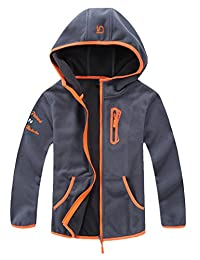 Mallimoda Boy's Polar Fleece Hooded Jacket Coat Zipper Sweatshirt