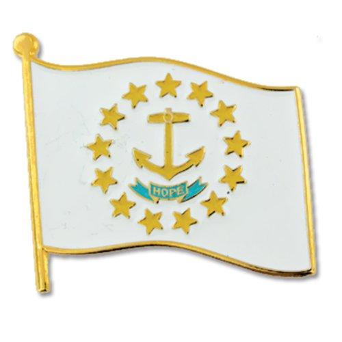 (PinMart Rhode Island US State Flag RI Enamel Lapel Pin 1