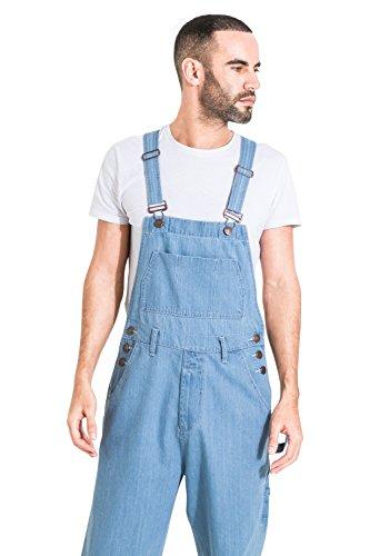 cdaca4654a USKEES Mens Palewash Denim Overall Shorts Walkshort Bib-Overall Shorts  Shortalls