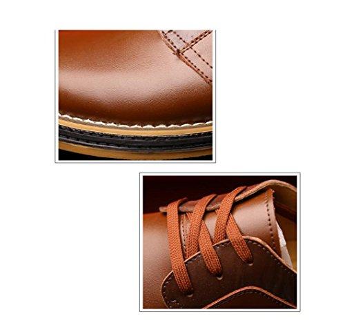Stivali Morbido Casual Colore Stagione Affari Uomo Scarpe Sportivi Pelle Tondo Nastro A Punta Brown in Tela Sandali HywUZwqop