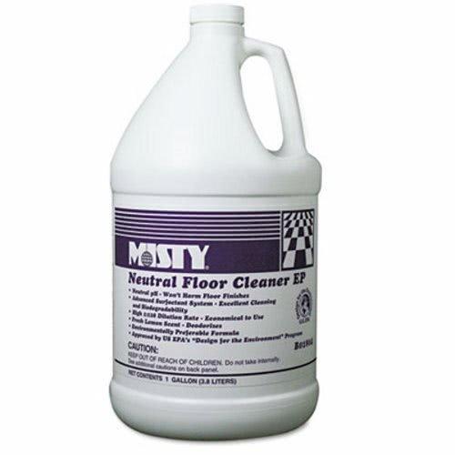 Misty Neutral Floor Cleaner EP, Lemon, 1gal Bottle - Includes four per (Misty Neutral Floor Cleaner)
