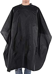 Black Salon and Barber Cape for Hair Stylist, Clients - Hairdressing Gown Cover Waterproof Apron
