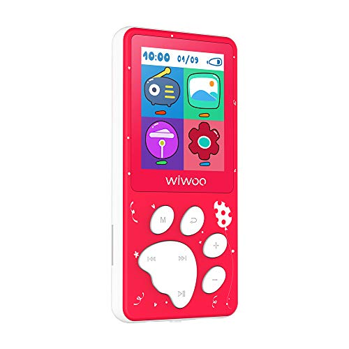 Wiwoo MP3 Player for Kids, Portable 8GB Music Player with FM Radio Voice Recorder, Ebook, Expandable Up to 128GB