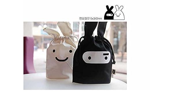 1 X Korean Adorable Travel Ninja Rabbit Pouch Tote Bag ...