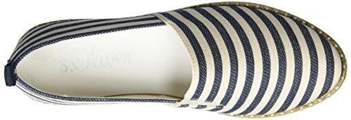 s.Oliver Damen 24616 Espadrilles Blau (NAVY/NATURE 827)