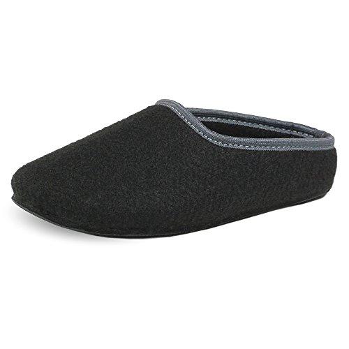 PantOUF Bonitas Zapatillas de casa Cambrai con Un Estilo Fantástico Sencillo y Moderno. Increíblemente Confortables. Las Zapatillas Son Flexibles, Ligeras, Suaves, Gris Oscuro/Amarillo Negro
