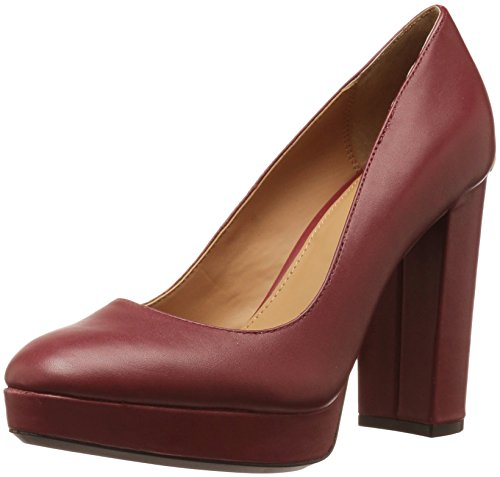Calvin Klein Womens Monika Leather Pump Red h4Agz0k2