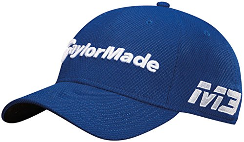 TaylorMade Golf 2018 Men's New Era Tour 39thirty Hat, Royal, Large/x-large