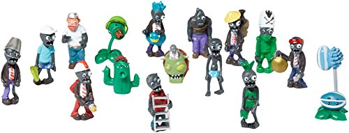 Oliasports 16 X Zombies Toy Figures Toys Series (Plants Vs Zombies Decorations)