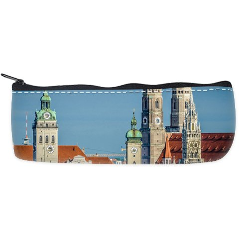 Munich Custom Art Printing Pencil Case Students Stationery Bags Pencil Holders Pen Bag