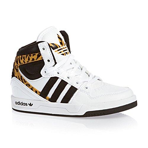 adidas Originals Court Attitude K Unisex-Kinder High-top Blanc (Ftwbla/Noiess/Stsoli)