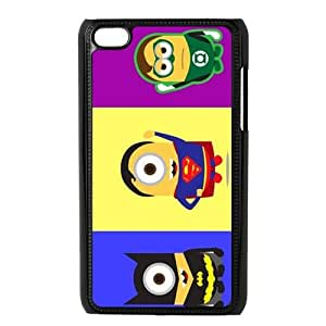 The New Style Cute Batman Superman Arrowman The Combination Of Batman And Minion Ipod Touch 4 Best Durable Cover Case