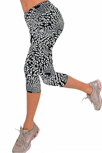 死にかけている環境保護主義者製造業Women's Active Workout Capri Leggings Shorts Stretchy Tights(Print4Small) [並行輸入品]